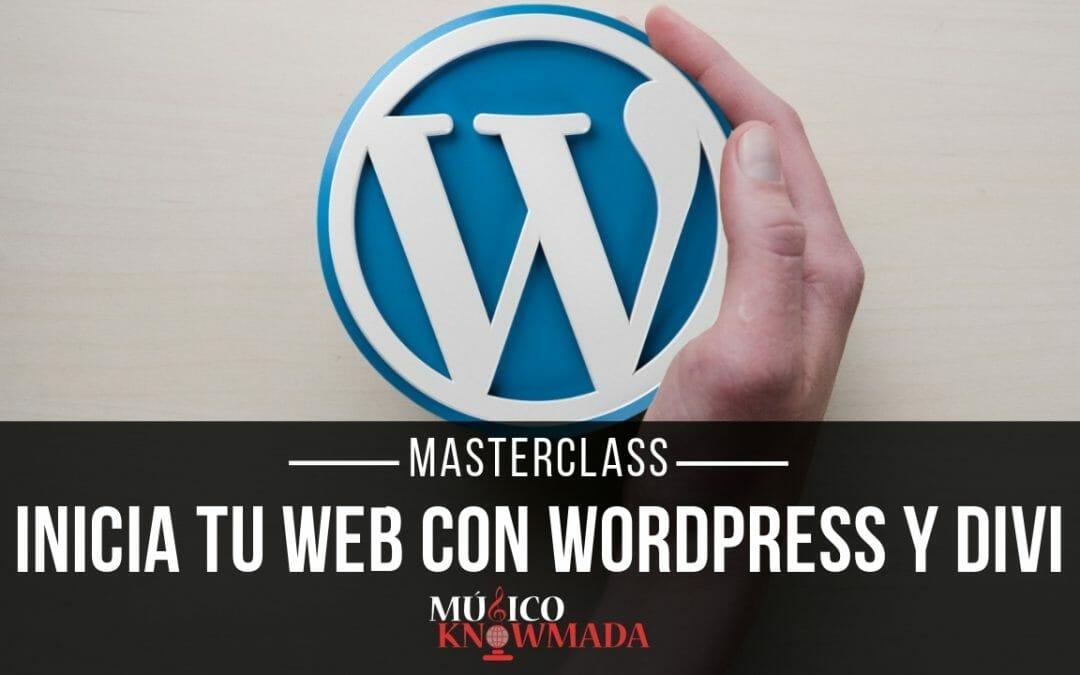Masterclass Inicia tu Web con WordPress y Divi